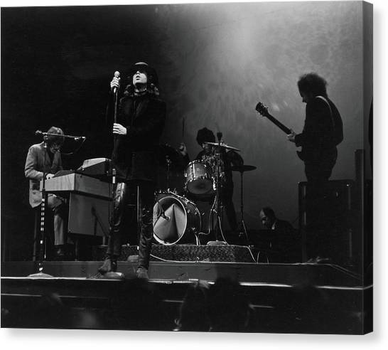 The Doors At The Filmore East Canvas Print by Fred W. McDarrah