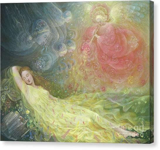 The Annunciation Canvas Print - The Dream Of Venus by Annael Anelia Pavlova