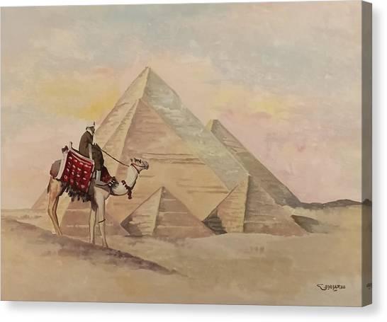 The Egyptian Pyramids Canvas Print