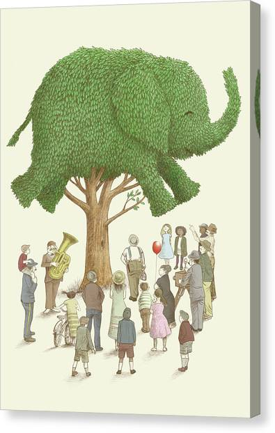Tree Canvas Print - The Elephant Tree by Eric Fan