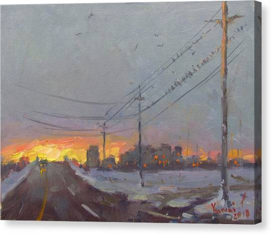 Utility Canvas Print - The End Of A Gray Day by Ylli Haruni