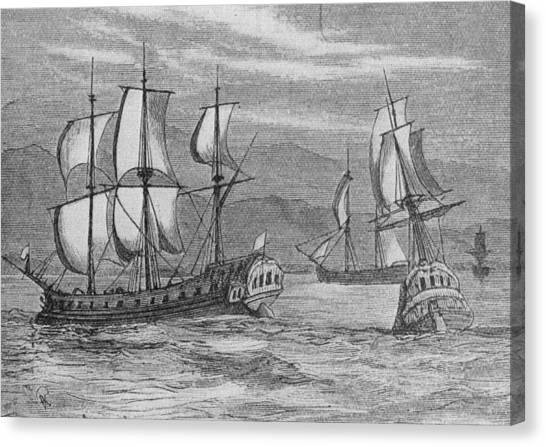 The First Fleet Canvas Print by Hulton Archive