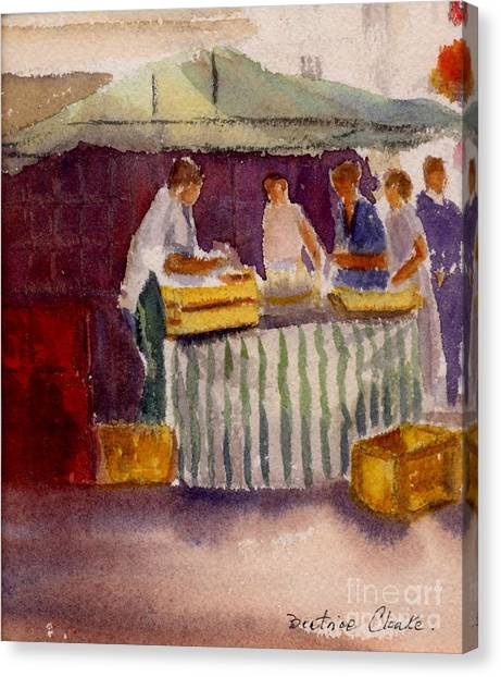 The Fishmonger Canvas Print