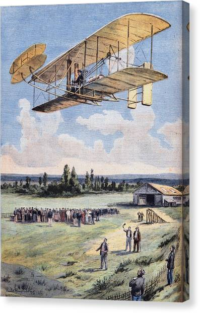 The Flying Men, Wilbur Wright 1867-1912 Canvas Print