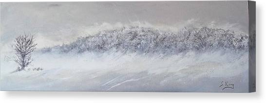 The Front Of Cold Canvas Print