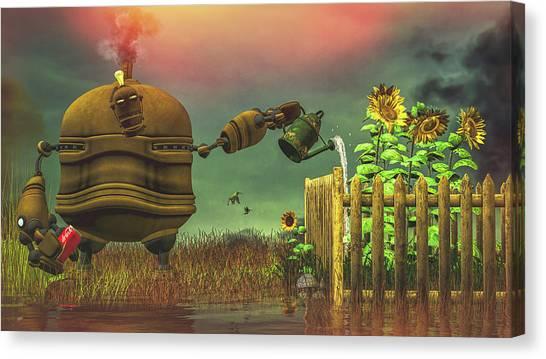 Meditate Canvas Print - The Gardener by Bob Orsillo