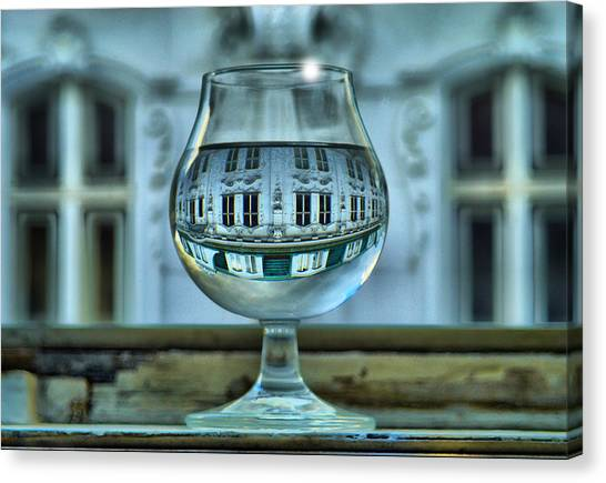 The Glass - Living Upside Down Canvas Print