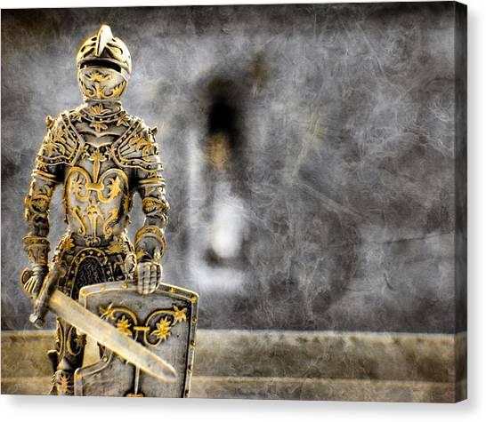 The Golden Miniature Knight Canvas Print