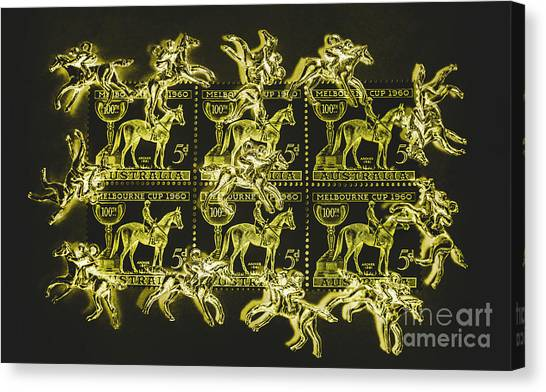 Thoroughbreds Canvas Print - The Golden Race by Jorgo Photography - Wall Art Gallery