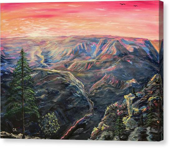 Canvas Print featuring the painting The Grand Canyon by Chance Kafka