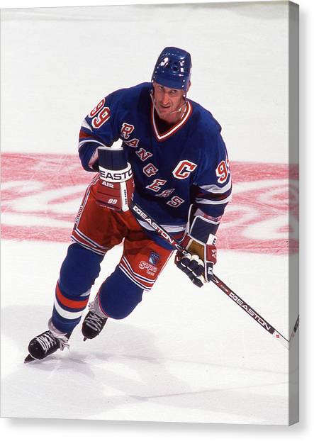 Wayne Gretzky Canvas Print - The Great One by Positive Images