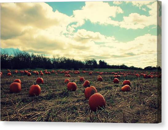 Canvas Print featuring the photograph The Great Pumpkin by Candice Trimble