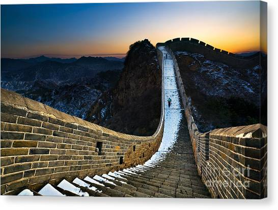 Fortification Canvas Print - The Great Wall by Jun Mu