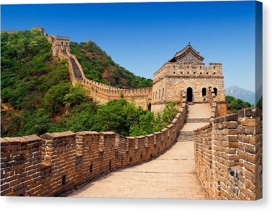 The Great Wall Of China Canvas Print by Izmael