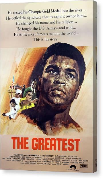 Joe Frazier Canvas Print - The Greatest Movie - Muhammad Ali Lobby Promo 1977 by Daniel Hagerman