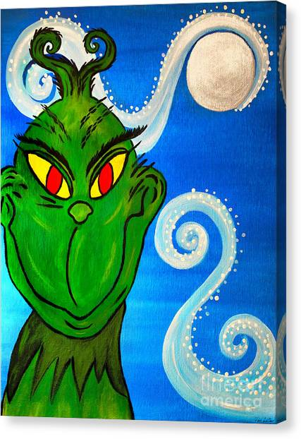 Grinch Canvas Print - The Grinch by Tina LeCour