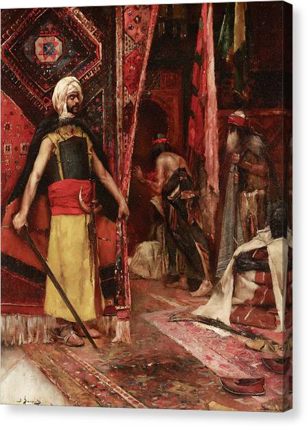 Emir Canvas Print - The Guard by Maurice Bompard