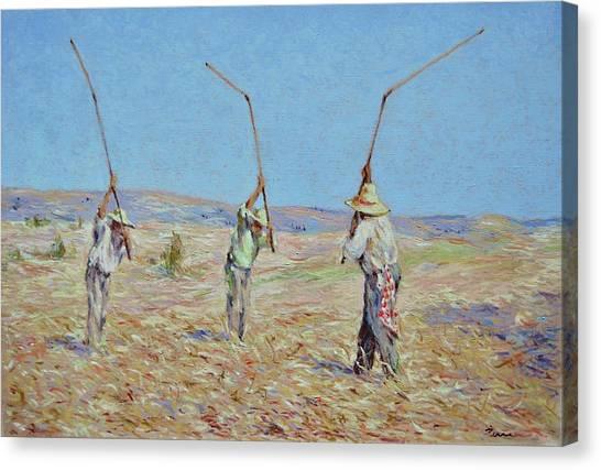 The Haymakers - Pierre Van Dijk 70x90cm Oil Canvas Print
