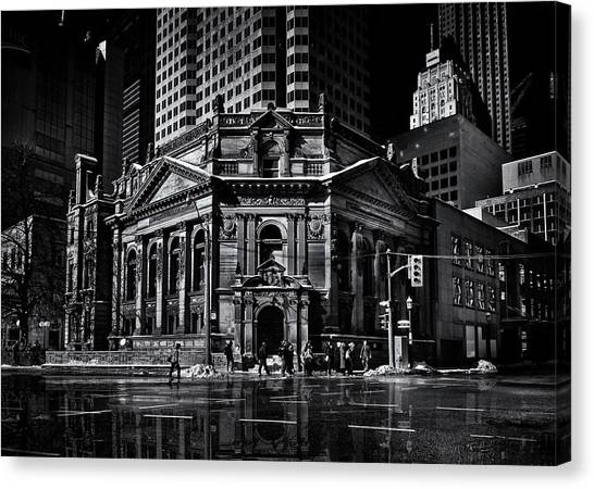 Canvas Print featuring the photograph The Hockey Hall Of Fame Toronto Canada Reflection by Brian Carson