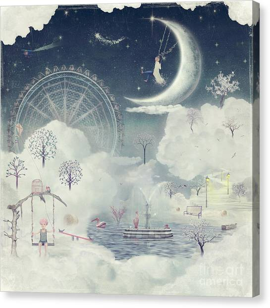 The Illustration Shows The Fantastic Canvas Print by Natalia maroz