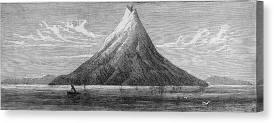The Island Of Krakatoa Canvas Print by Kean Collection