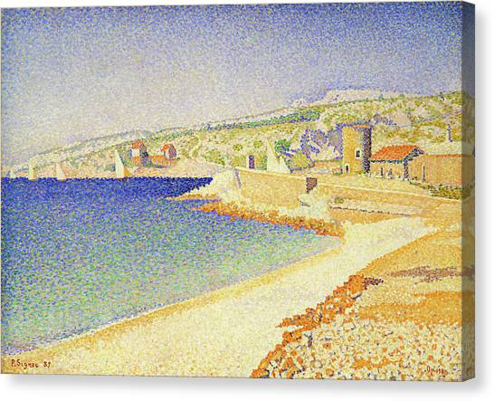 Signac Canvas Print - The Jetty At Cassis - Digital Remastered Edition by Paul Signac