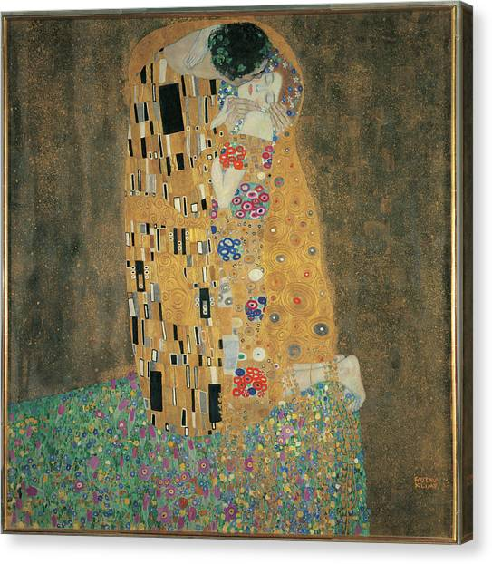 The Kiss, By Gustav Klimt, 1908 About Canvas Print