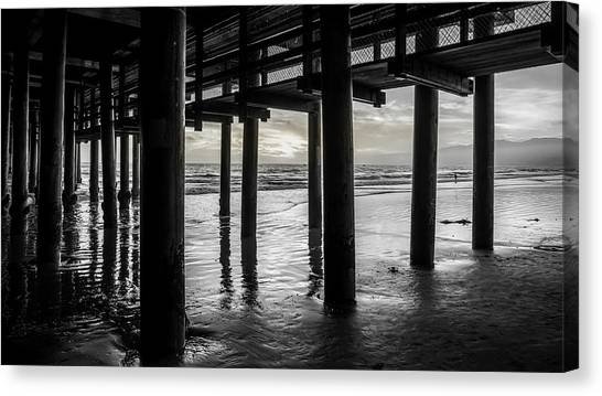 The Light Downunder - B And W Canvas Print