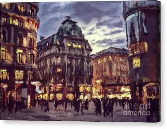 Paris Skyline Canvas Print - The Lights Of Vienna by Sarah Kirk