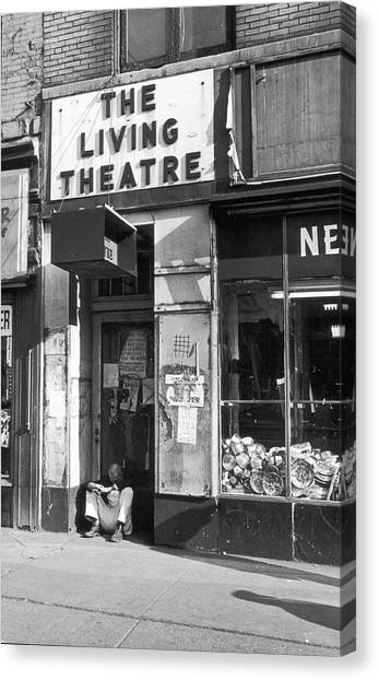 The Living Theatre, Closed Canvas Print by Fred W. McDarrah