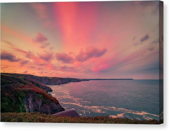 The Lizard Point Sunset Canvas Print