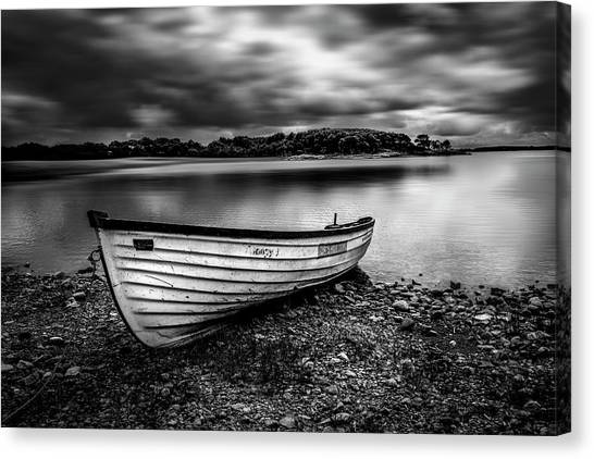 The Lone Boat Canvas Print