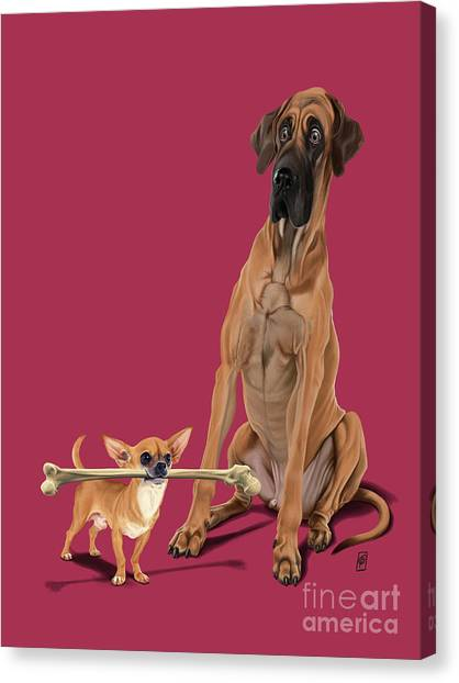 Canvas Print featuring the digital art The Long And The Short And The Tall Colour by Rob Snow
