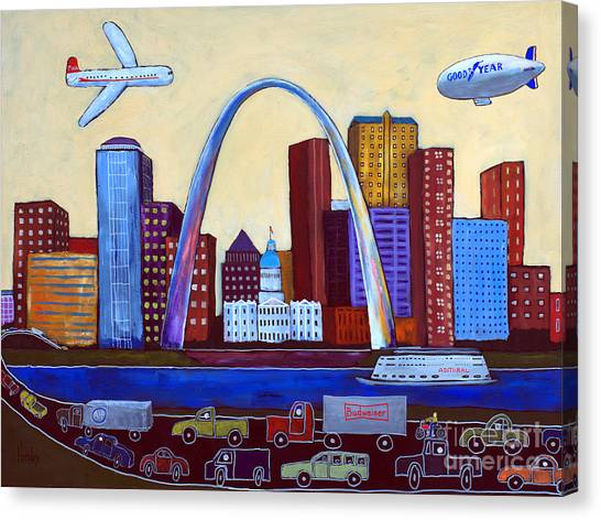 Gateway Arch Canvas Print - The Lou by David Hinds
