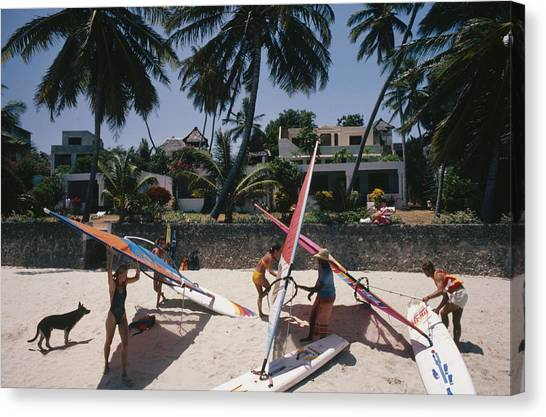The Lure Of Lamu Canvas Print by Slim Aarons