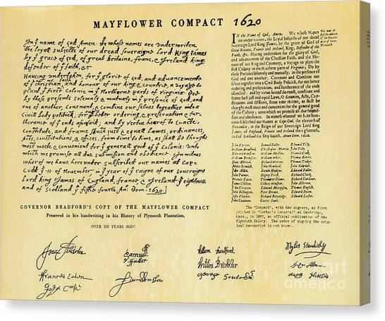 The Mayflower Compact  Canvas Print