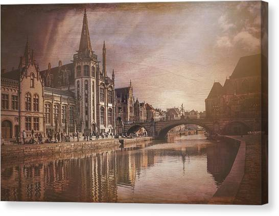 Gent Canvas Print - The Medieval Old Town Of Ghent  by Carol Japp