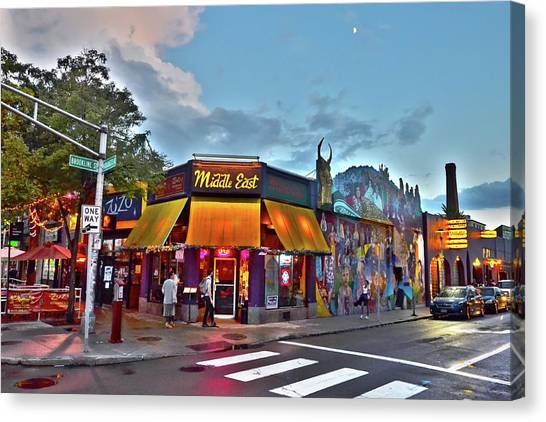 The Middle East In Cambridge Central Square Dusk Canvas Print