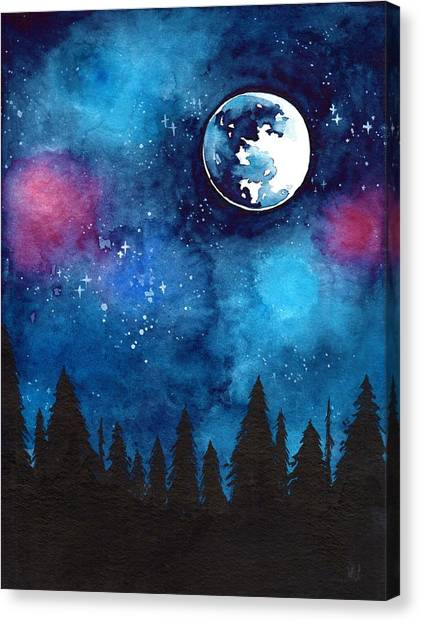 Full Moon Canvas Print - The Moon by ArtMarketJapan