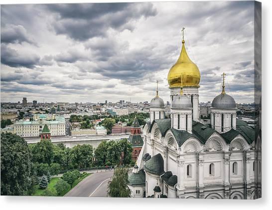 The Moscow Kremlin Canvas Print by Yongyuan Dai