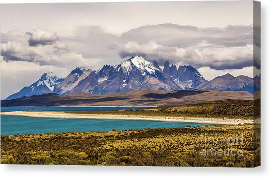 The Mountains Of Torres Del Paine National Park, Chile Canvas Print
