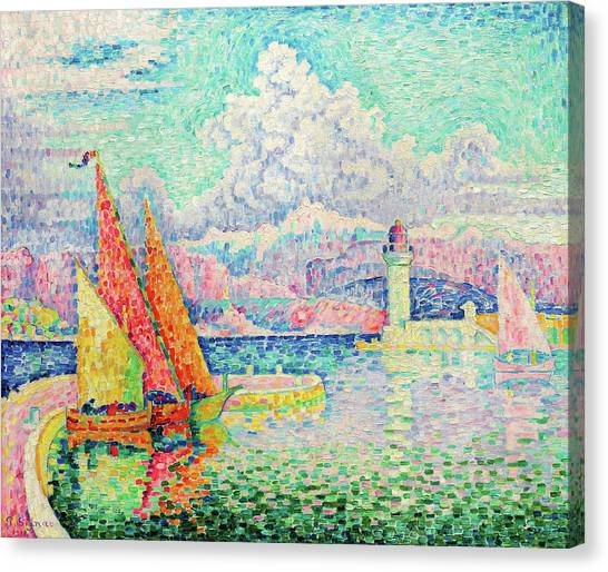 Signac Canvas Print - The Musior, Port Of Antibes - Digital Remastered Edition by Paul Signac
