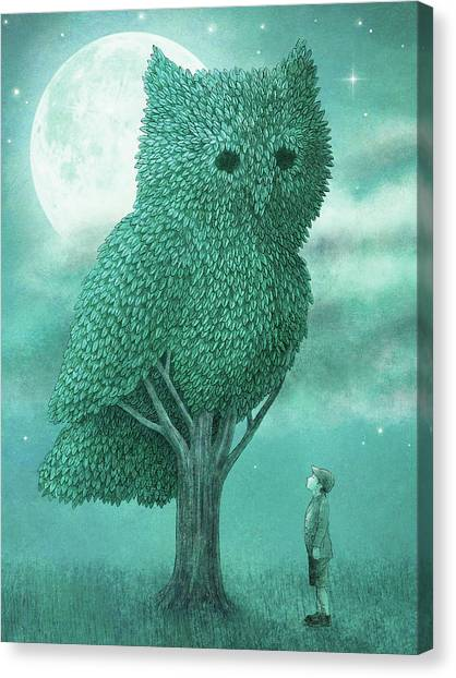 Tree Canvas Print - The Night Gardener by Eric Fan