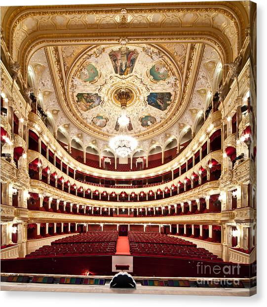 Indoors Canvas Print - The Odessa National Academic Theater Of by Alexander Levitsky