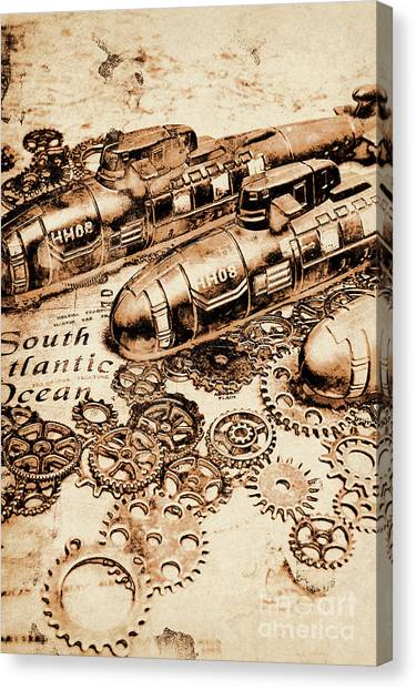 Submarine Canvas Print - The Old Naval War Room by Jorgo Photography - Wall Art Gallery