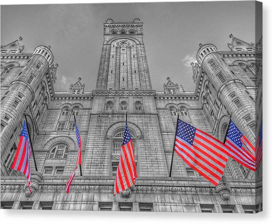 Post-modern Art Canvas Print - The Old Post Office Now Trump International Hotel In Washington D.c. by Marianna Mills
