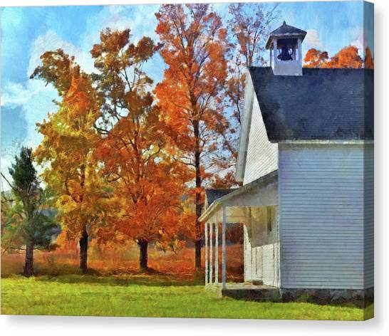 The Old Schoolhouse At Port Oneida Canvas Print