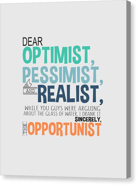 The Opportunist Canvas Print
