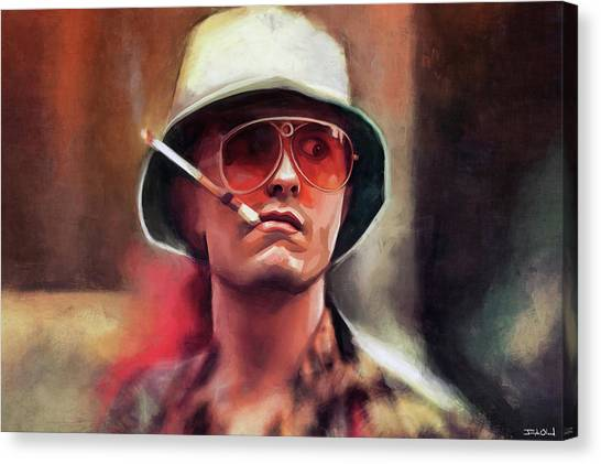 eef1b99b72c2 Fear And Loathing Canvas Print - The Original Gonzo Journalist Hunter S.  Thompson by Joseph