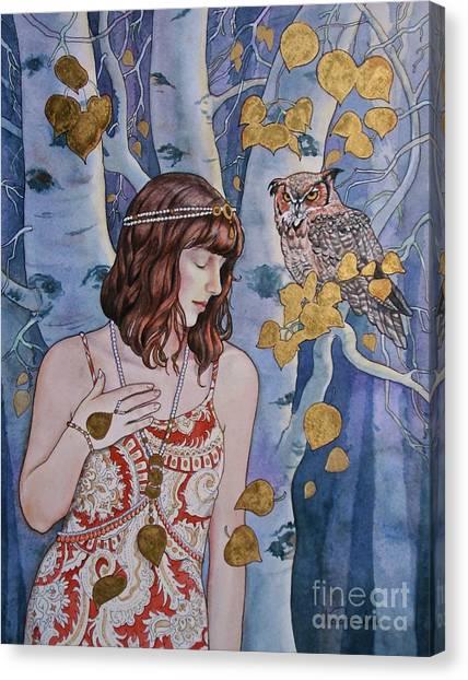 The Owl's Secret Canvas Print